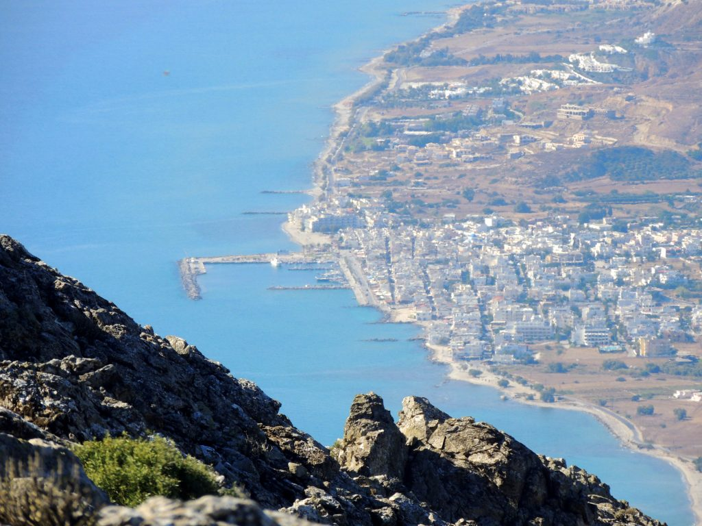 The view to Kardamena from Mt Dikeos on Kos