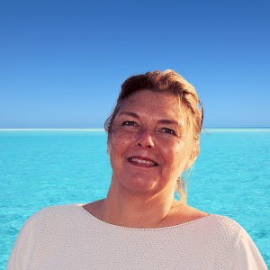 Headshot of Felicity Carver, owner of The Tower House on Kos